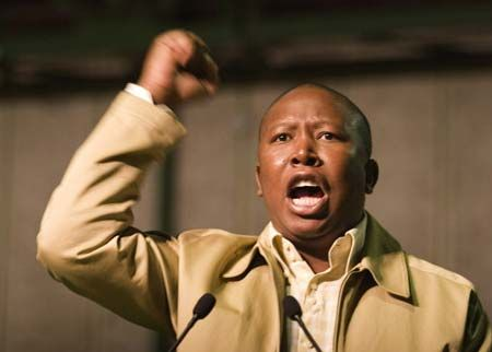 At it: Julius Malema